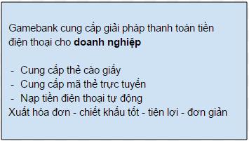 Gamebank cung cap da dang phuong thuc mua the