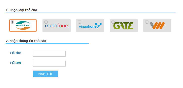 Dịch vụ thu mua thẻ cào tại Gamebank